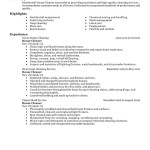 sample resume for cleaning person residential house cleaner maintenance and janitorial - House Cleaning Resume Sample