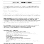 Teacher Cover Letter Samples With Experience Cover Letter for Teaching Position