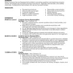 customer service representative retail skills and Customer Service Resume