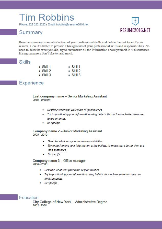 resume template 2016 violette resume career builder resume format