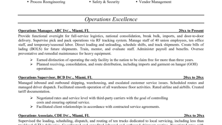 15 pediatrician resume sample operations management