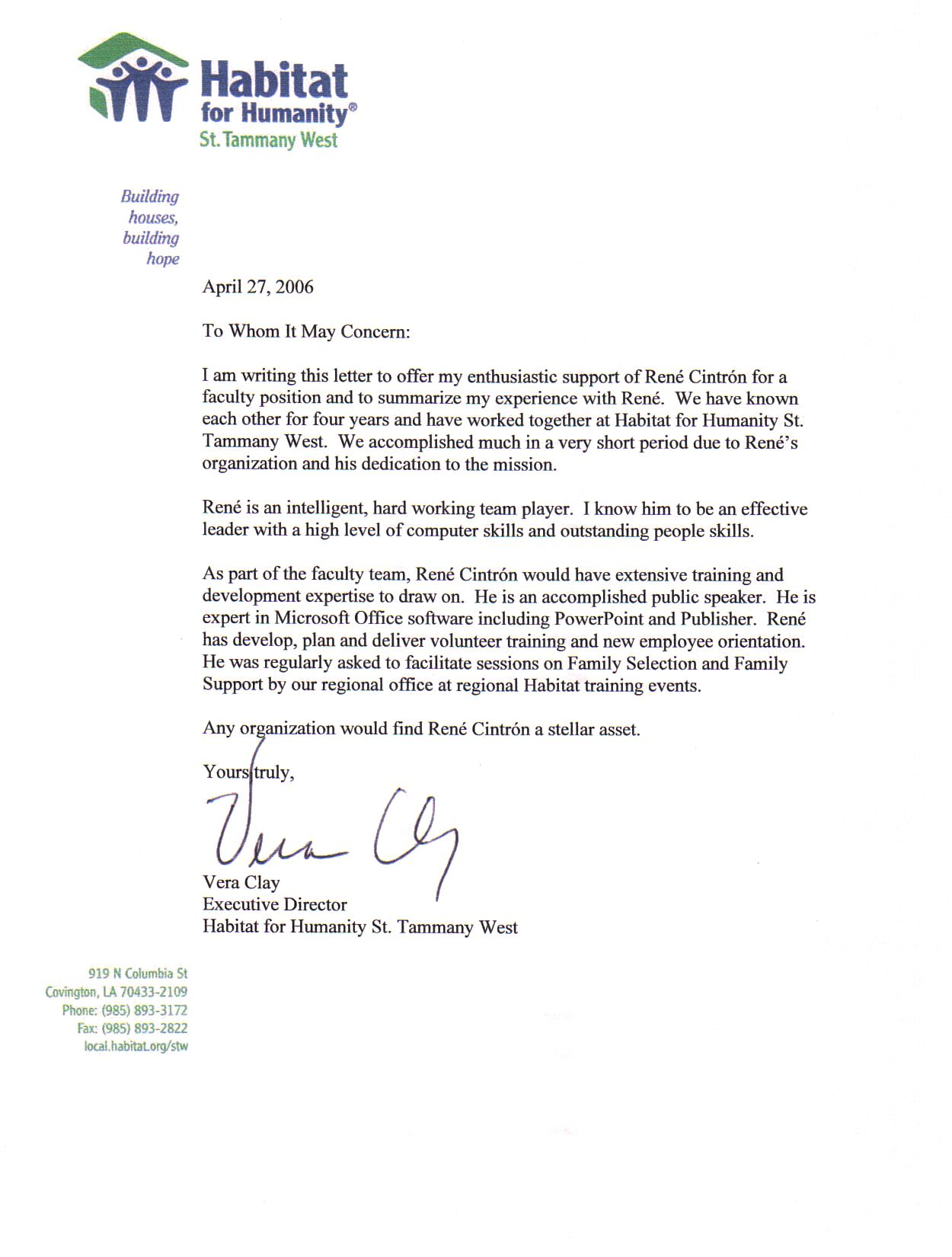Recommendation Letter Format Sample Reference Academic Letter Of
