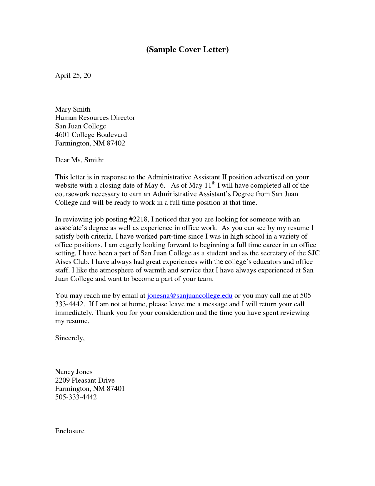 administrative assistant cover letter cover letter for office assistant - Administrative Assistant Cover Letter