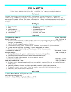 Administrative Assistant Resume Example administrative assistant administration office support resume example modern