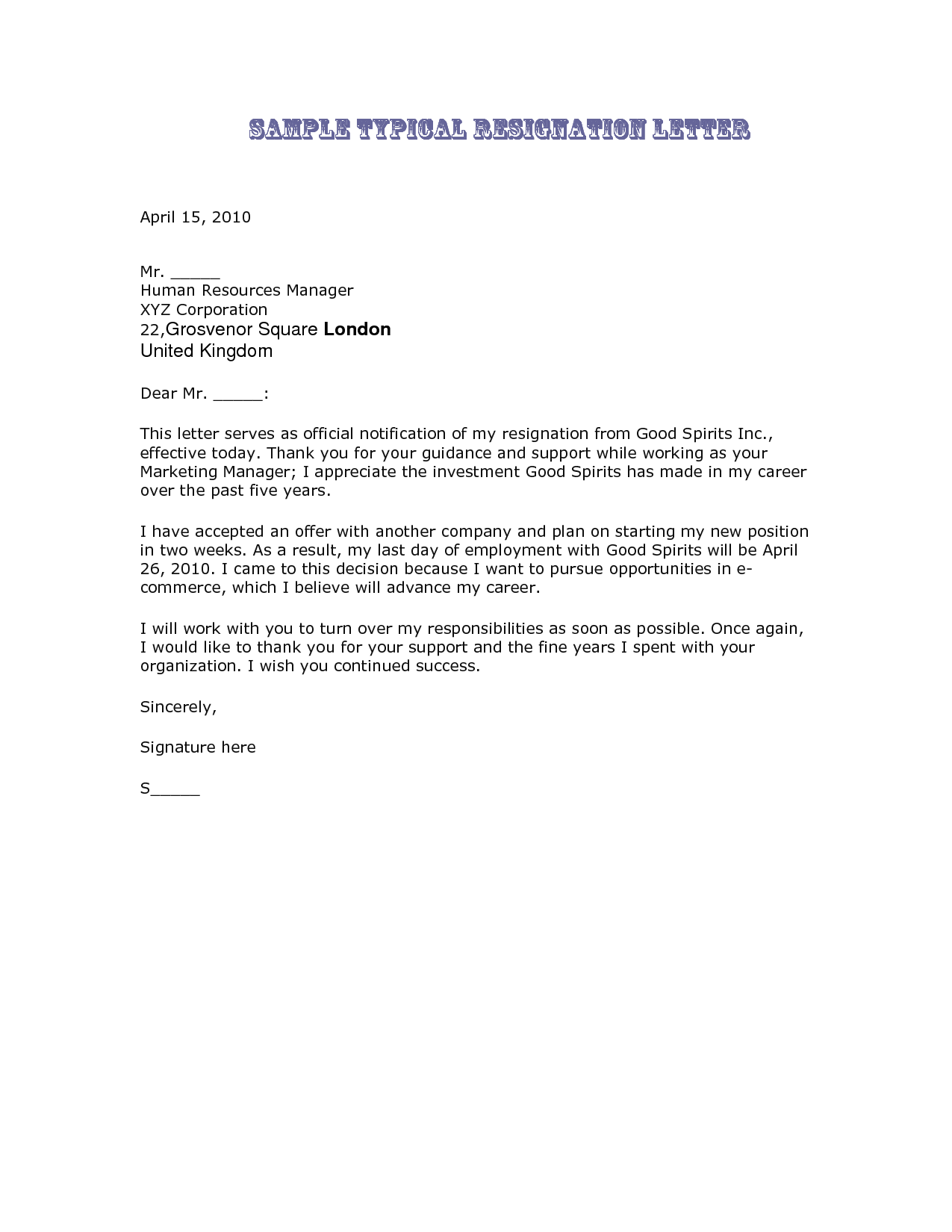 resignation letter elegant writing a letter of resignation samples
