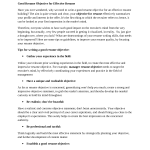 Career Objectives for Resumes Good Resume Objectives