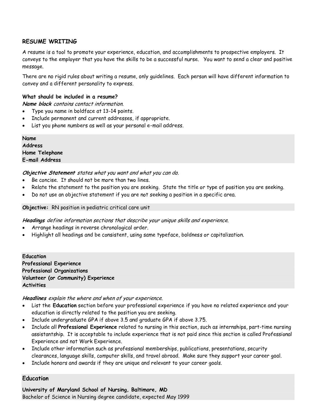 good objectives on resumes good objectives for resume - Resume Profile Vs Resume Objective