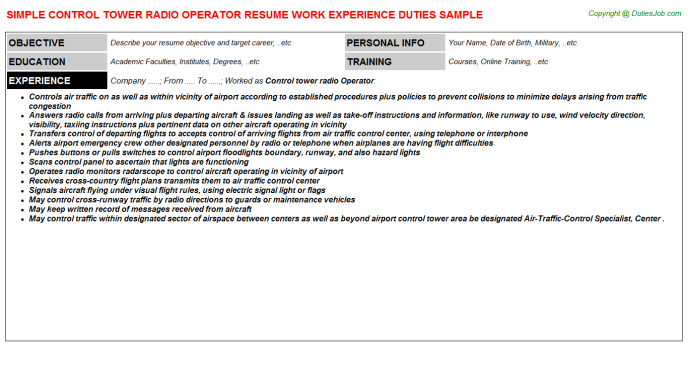 switchboard operator resume sample