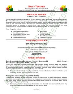 Elementary Teacher Resume Teacher resume