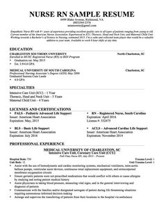 Delightful Registered Nurse Resume Sample Resume No Experience Examples CV Resume Ideas  Nursing Resume Example