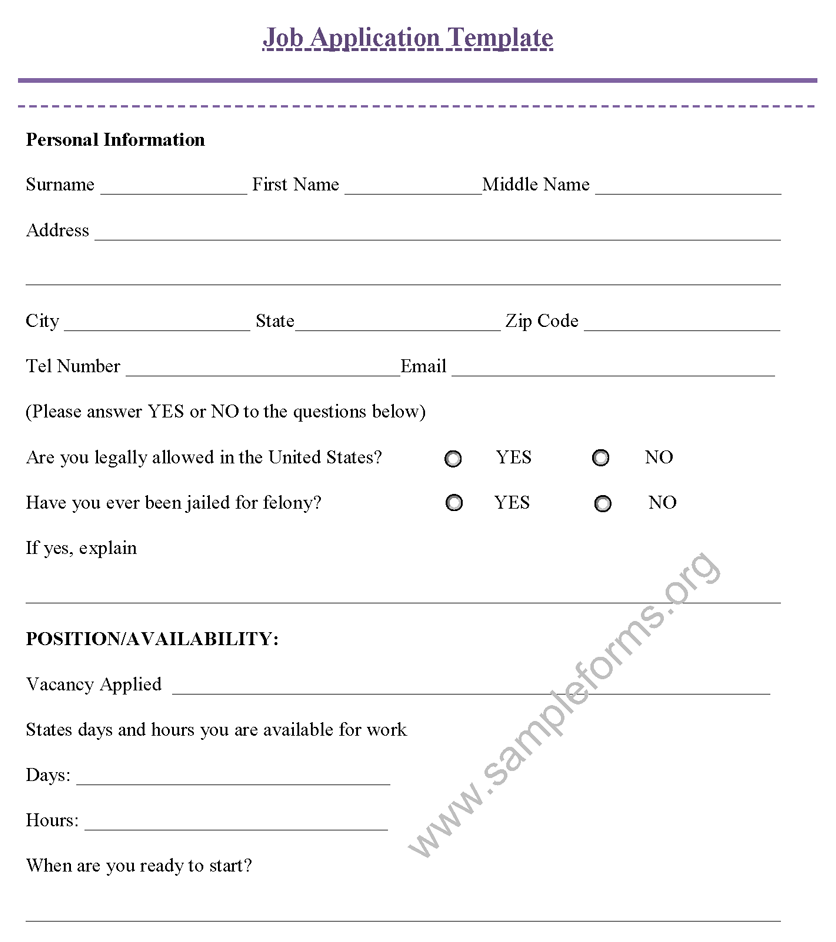 Free Latest Resume Job Application Form Job Application Template  Resume Application Form