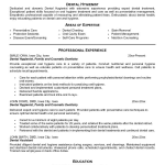 Free Resume Templates for Dental Assistant jk