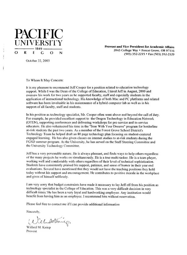 Good Reference Letter For Teachers Letter Of Recommendation For