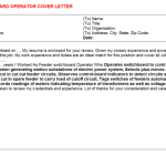 Hospital Operator Job Description Feeder switchboard Operator Cover Letter