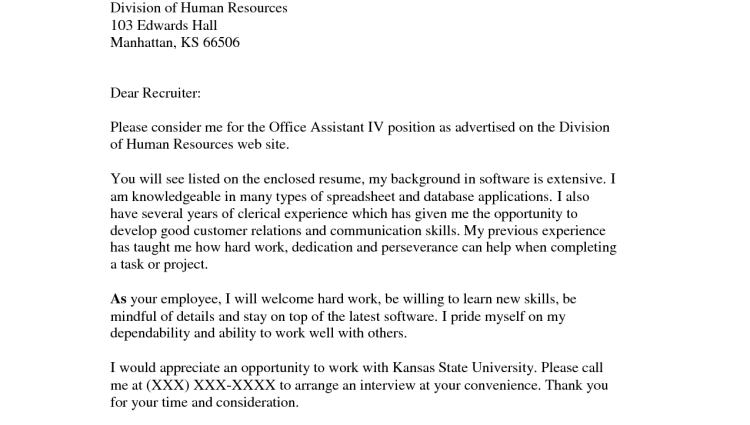 Applying For A Promotion Cover Letter Example