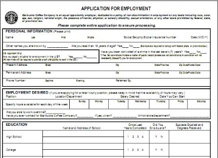 Mc Donalds Job Application Mcdonalds Application For Employment