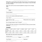 McDonalds Application Online Print Job Employment Form mcdonal'd mini application