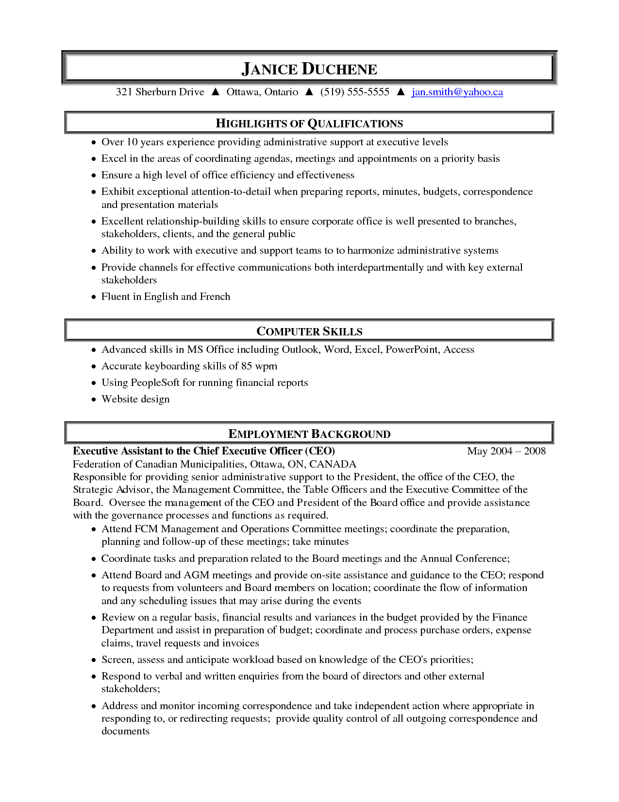 Medical Administrative Assistant Resume Samples Highlight Of Qualifications  Administrative Assistant Resume Samples