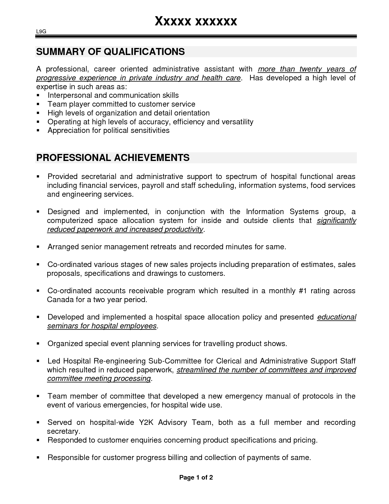 Sample Resume For Certified Medical Administrative Assistant