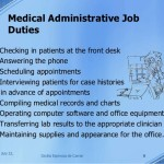 Medical Administrative assistant Job Duties administrative