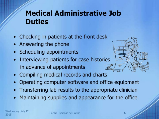 Medical Administrative assistant Job Duties administrative ...