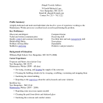 microsoft office resume house cleaning experience resume