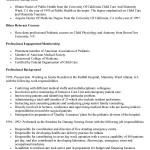 Pediatrician Resume Examples other relevant courses