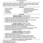 Personal Caregiver Resume Sample caregivers companions wellness