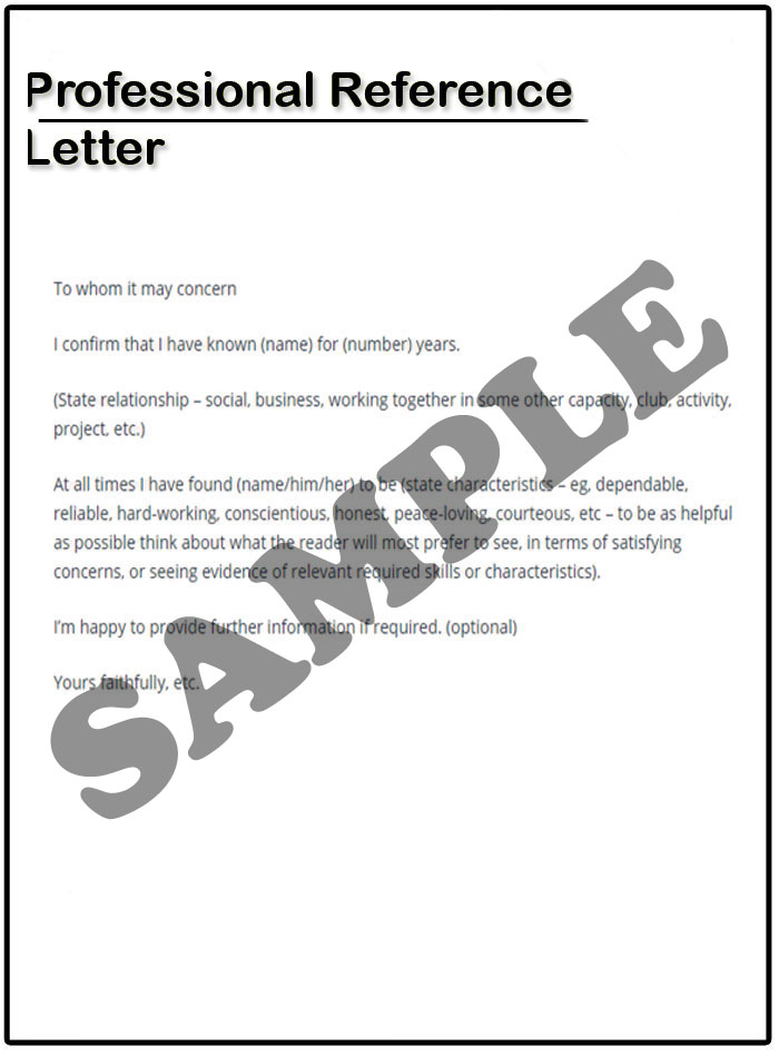 Reference Letter For Coworker Professional Reference Letter