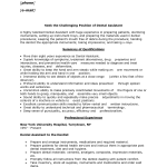 Resume Objectives for Dental Assistant resume template
