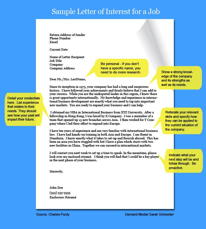 Letter Of Interest Template Microsoft Letter Of Intent For