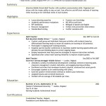 Teacher Resume Examples Education Resume Samples summary highlight
