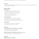 Waitress Resume Template Examples cocktail waitress resume sample objective