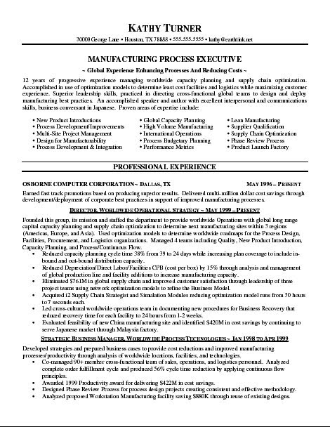 best waitress resume samples manufacturing process executive