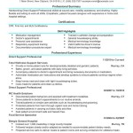 caregiver resume objective direct support professional healthcare