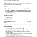 cocktail server resume example cocktail server resume objective examples - Banquet Server Resume Example