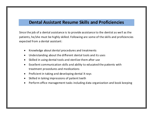 Nice Dental Assistant Job Description - Samplebusinessresume.Com
