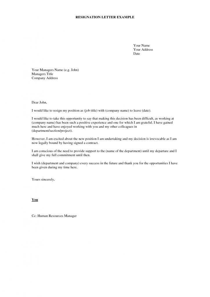 example of simple resignation letter a letter of resignation example resignation letter samples