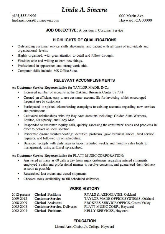 Good Example Of A Resume - Template
