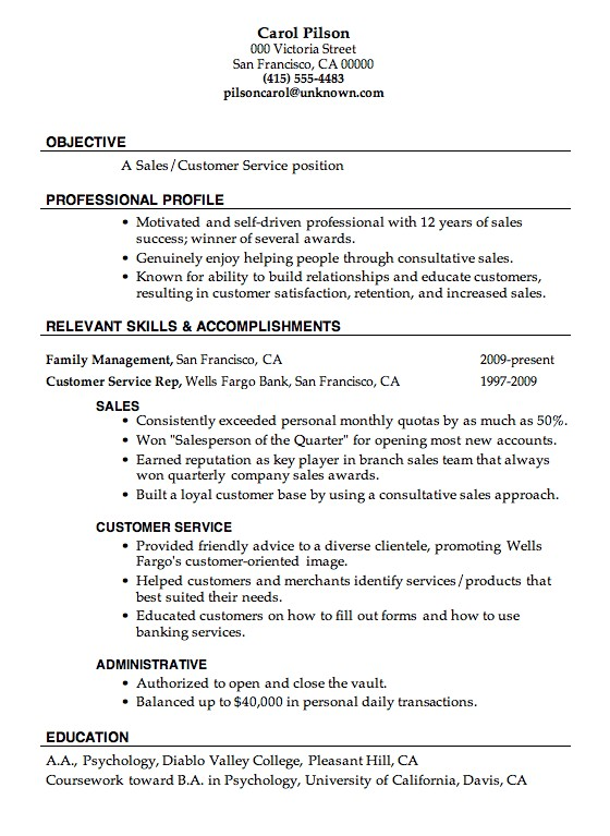 Great Resume Examples Great Resume Examples For Customer Service - Sample of a great resume