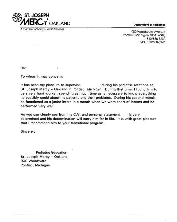 Letter of recommendation example of reference letter for Recommendation letter for a company template
