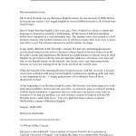 teaching position letter of recommendation