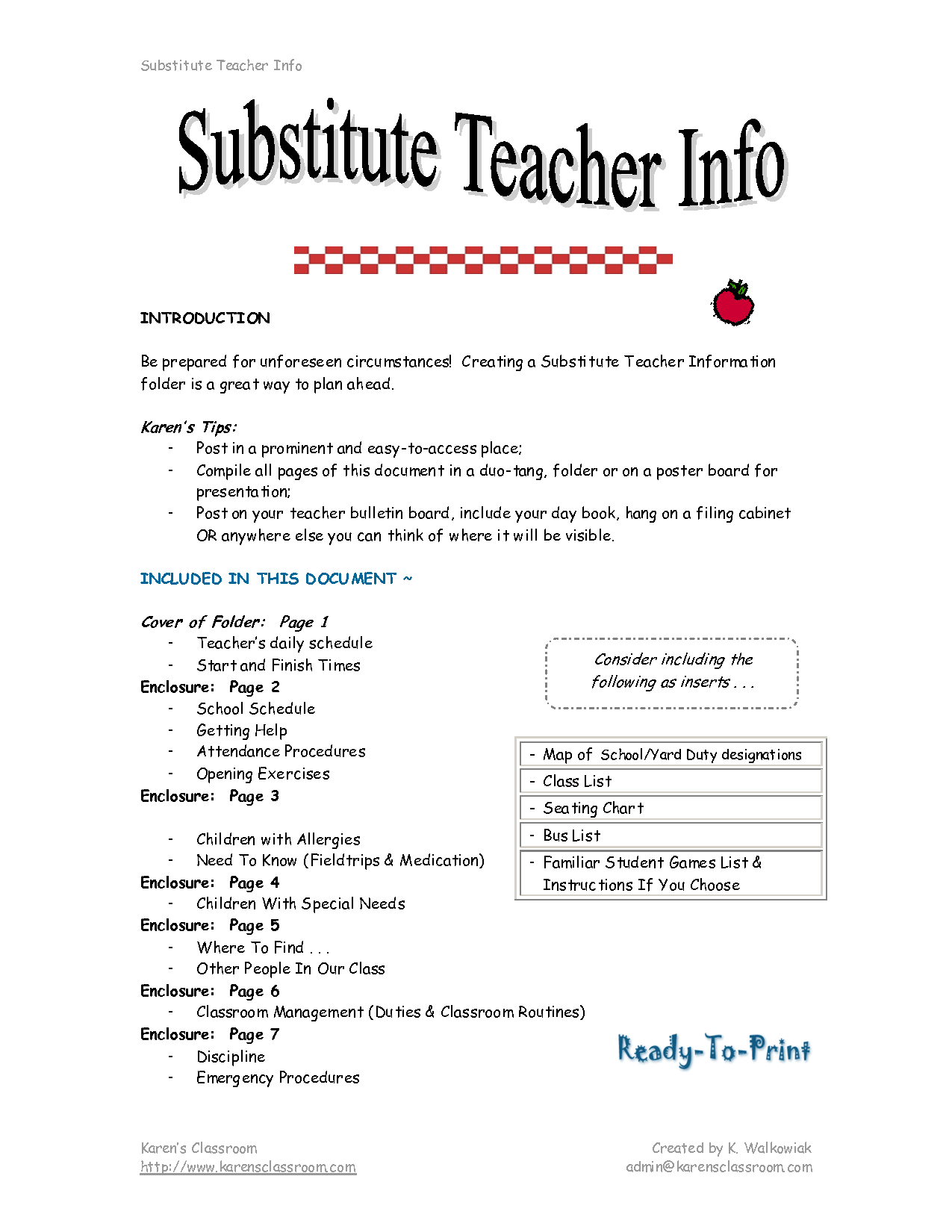 2016 substitute description