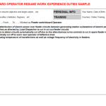 switchboard operator job description Feeder switchboard Operator Resume Sample