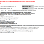 switchboard operator resume example Switchboard Operators Including Answering Service Resume Sample