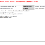 switchboard operator resume sample Switchboard Operator Police District Resume Sample