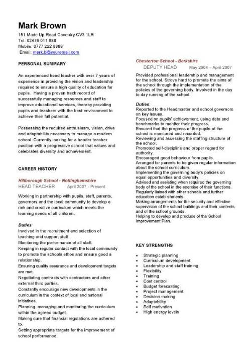 elementary teacher resume template word free format in india
