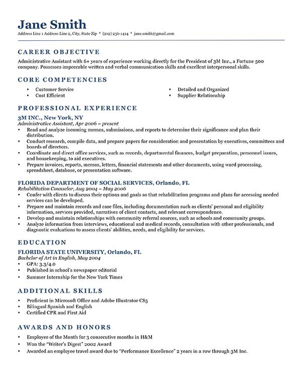 What to put for objective on a resume resume template for Great short vacation ideas