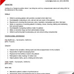 Caregiver Job Description for Resume caregiver resume sample objective