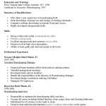 Entry Level Housekeeping Resume template objective summary of qualifications